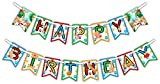 Puppy Dog Happy Birthday Party Banner Decoration (Includes 23ft Ribbon)