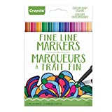 Crayola Fine Line Markers, 12-Count, Contemporary Colors