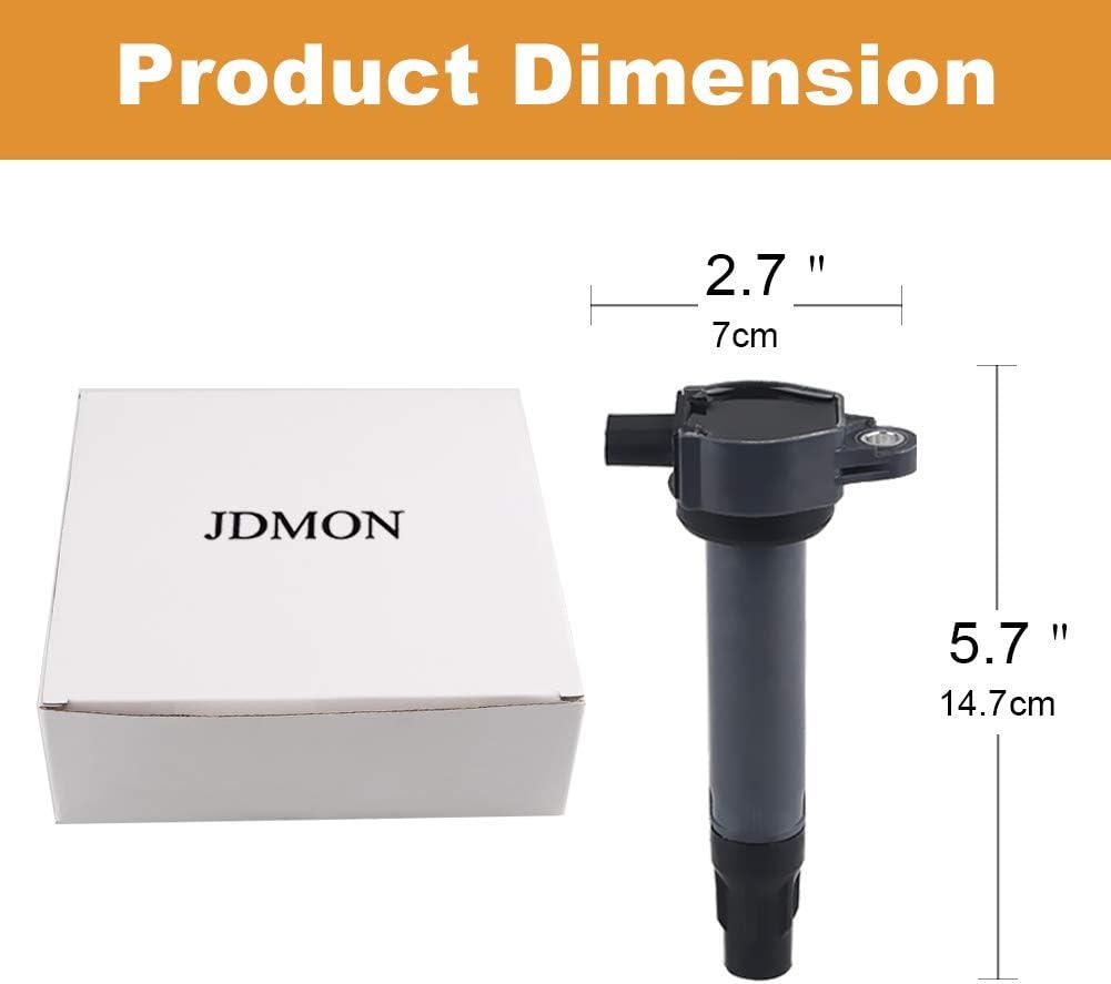 JDMON Compatible with Ignition Coils Pack Chrysler Dodge Jeep 200 Sebring Avenger Caliber Journey Compass Patriot 2007-2017 Replace for 4606824AB UF557 C1587 1.8L 2.2L 2.4L set of 4