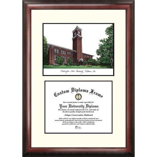 Washington State Cougars Framed - Landmark Publishing Washington State Cougars Framed Scholar Diploma Frame with Lithograph