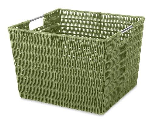 Whitmor Rattique Storage Tote Sage Green