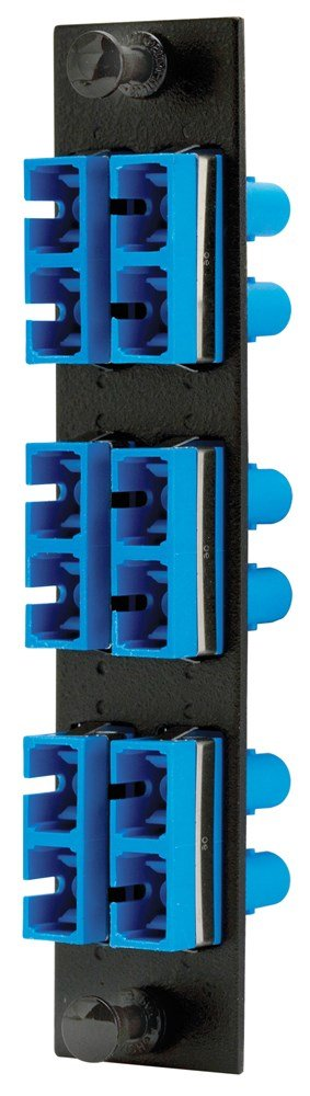 Hubbell HUBFSPSTD6 Adapter Panel, 12-Fiber, 6 ST Duplex, Phosphor Bronze, Blue by Hubbell