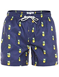 82cbb90e86 Mens Slim Fit Quick Dry Swim Shorts Swim Trunks Mens Bathing Suits with  Mesh Lining
