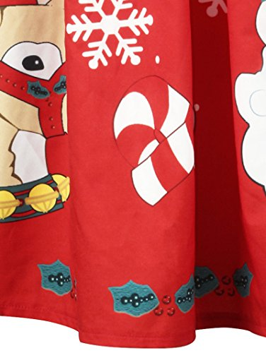 Di Di Il A Bagliore Natale Più Stampa Vestito Formato Davanti Verde Charmma Luce Righe Bowknot Donne I8qFwxR