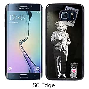 Fashionable Custom Designed Cover Case For Samsung Galaxy S6 Edge With Love is the Answer Black Phone Case