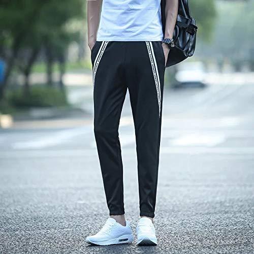 (2018 Summer Wave Men Man Teen Casual Pants Repair Leg Movement Sunscreen Long feet Stitching Pantyhose (English ramp)