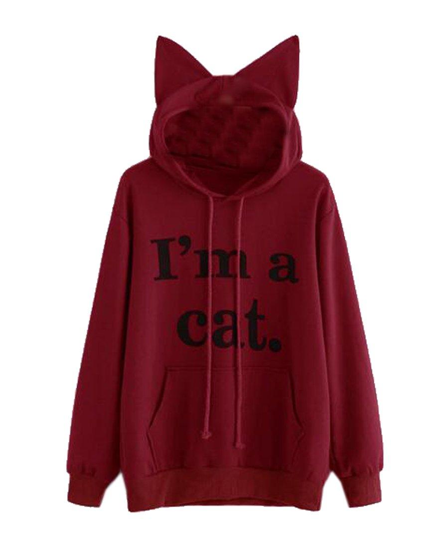 b4f14020384 ARTFFEL Women Casual Letter Print Hoodie Pockets Pullover Hoodies Sweatshirt  at Amazon Women s Clothing store