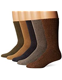 Men's 5 Pack Cushion Comfort Sport Crew Socks