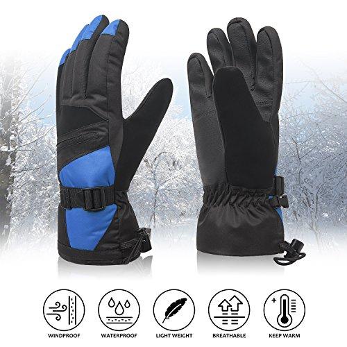 Ski Gloves, Winter Warm 3M Insulation Outdoor W...