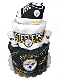 Pittsburgh Steelers Diaper Cake - Baby Shower Centerpiece Gift Set