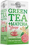 Gus and Joan Green Tea, Ginger and Matcha, (Pack of 6), 120 Total Tea Bags