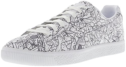 Puma Clyde All Star Game Fm Heren Ronde Neus Synthetisch Wit Sneakers Puma Wit