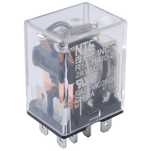 (NTE Electronics R14-11A10-120 Series R14 General Purpose AC Relay, DPDT Contact Arrangement, 10 Amp, 120 VAC)