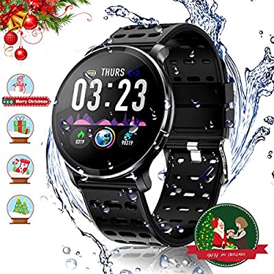 CanMixs Pulsera de Actividad Smartwatch, CM10 Pulsera Inteligente Impermeable IP68 Reloj Deportivo para Deporte, Podómetro, Monitor de Ritmo, Calorías ...