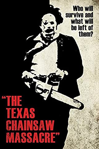 Texas Chainsaw Massacre- Leatherface Silhouette Poster 24 x 36in (Classic Scary Movie Posters)