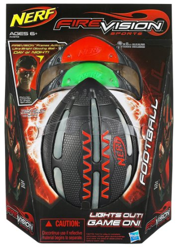 Hasbro Nerf Firevision Football Unique Ultra Bright Microprism Technology