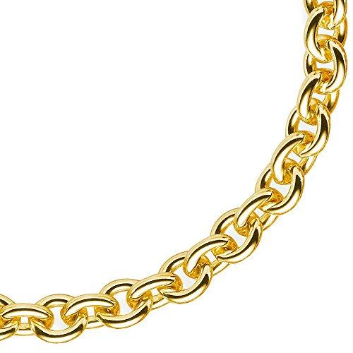 7,5 Mm rond bracelet chaîne en or jaune 585 de la baltique unisexe 21 cm
