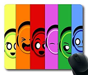 "Bright Colored Emotions Custom Mouse Pad, Personalized Design Oblong Gaming Mousepad in 220mm*180mm*3mm (9""*7"") -1024021 by icecream design"