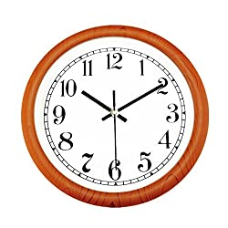 Foxtop 12 inch Classic Large Silent Non-ticking Universal Quartz Movement Wall Clock - Large Indoor Outdoor Wall Clocks