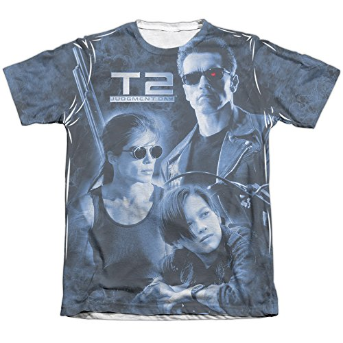 The Terminator II Protector And Hunter (Front Back Print) Mens Shirt XL