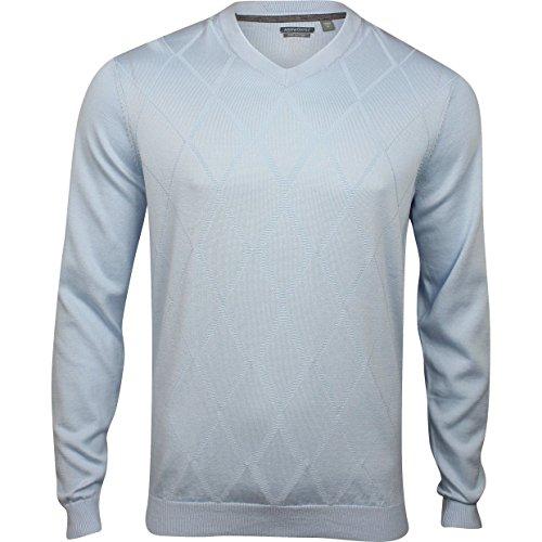 d Texture Pima Sweater Light Blue Xl ()