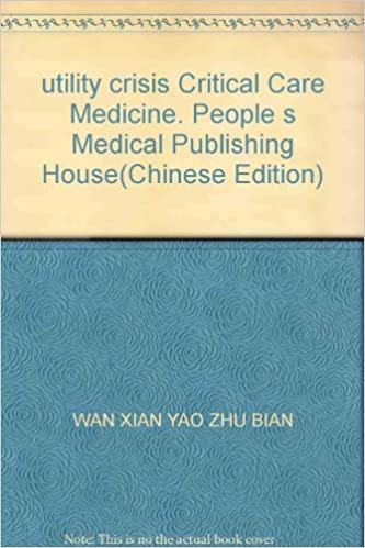 Free books cooking download utility crisis Critical Care Medicine. People s Medical Publishing House(Chinese Edition) PDF iBook PDB 7509114098