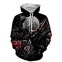 Cutelove Unisex Hoodies Tokyo Ghouls Ken Kaneki 3D Print Pullover Sportswear Sweatshirt Tops