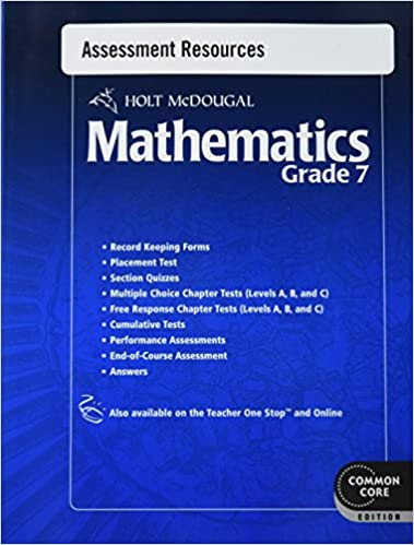 Amazon holt mcdougal mathematics common core assessment holt mcdougal mathematics common core assessment resources with answers grade 7 1st edition fandeluxe Gallery