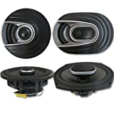 Polk Audio MM 6x9 Inch 3-Way Car Ultra Marine Speakers + 6.5 Inch 2-way Marine Speakers
