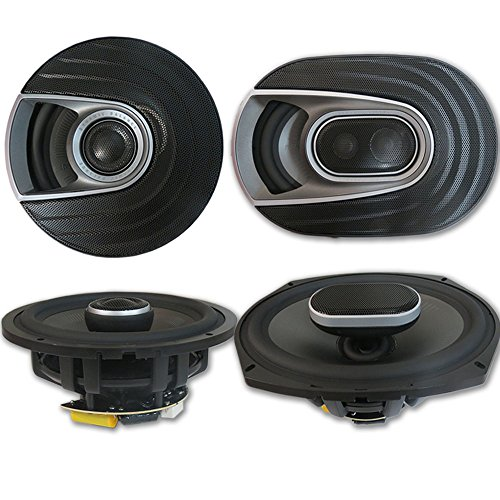 ch 3-Way Car Ultra Marine Speakers + 6.5 Inch 2-way Marine Speakers ()