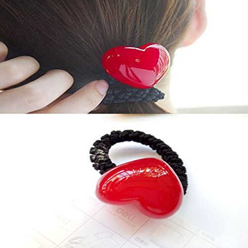 usongs imports hair ornaments jelly candy color peach heart love hair ring hair rope Tousheng