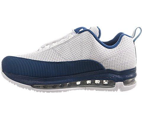 Jordan Nike Grade-School Air Comfort Air Max 12 White/Metallic Silver-French Blue 428923-101 Shoe 6.5Y M - Max Air Jordans