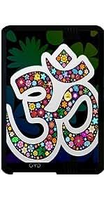 "Funda para Kindle Fire HD 7"" (2012 Version) - Namaste Símbolo Floral De Yoga by BluedarkArt"