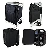 Zuca Photo Flyer: Black Carry-On Bag in Silver Frame with Built-In Seat, With Padded Removable Photo/Tech Insert Case for Canon, Nikon, Sony, Olympus DSLR Cameras