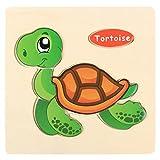Kids Toddler Baby Cartoon Animals Wooden Puzzle Toys Educational Training Developmental Intelligence...