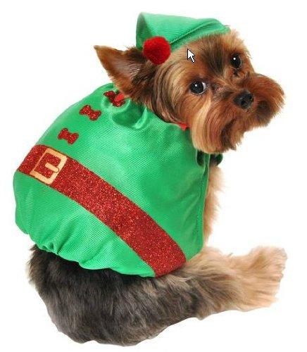 2 Elf Dog Costume (Elf Dog Costume & Hat 2 Piece Set)