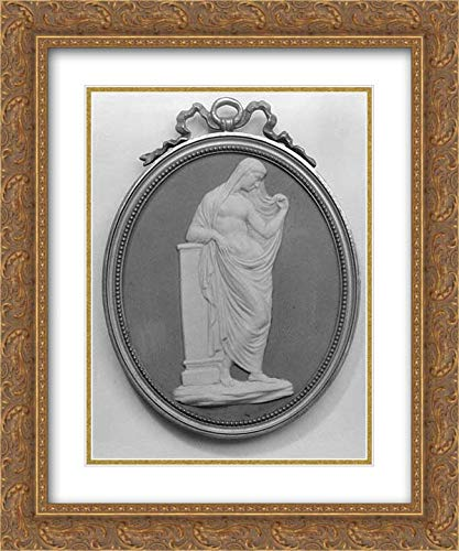 Wedgwood and Bentley - 20x24 Gold Ornate Frame and Double Matted Museum Art Print - Cameo Medallion