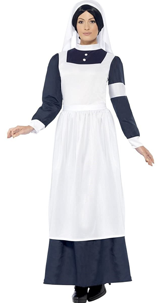 5382b775b7031 Ladies Wartime Nurse Florence Nightingale Victorian WW1 Fancy Dress Costume  Outfit 12-22 Plus Size: Amazon.co.uk: Clothing