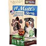 A Mutt's Story Bite Size Pieces Naturally Slow Smoked Gourmet Chicken Sausage Dog Jerky Treats | Gluten Free, No Corn or Soy | Crafted in Small Batches Healthy Tender Soft Dog Treats Made in the USA