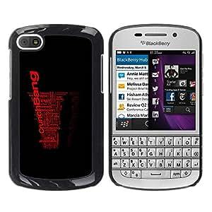 Paccase / SLIM PC / Aliminium Casa Carcasa Funda Case Cover para - Word Art Black Red Crunch Bang - BlackBerry Q10