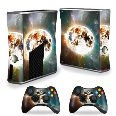 MightySkins Skin Compatible with X-Box 360 Xbox 360 S Console - Moon Explosion | Protective, Durable, and Unique Vinyl Decal wrap Cover | Easy to Apply, Remove, and Change Styles | Made in The USA ()