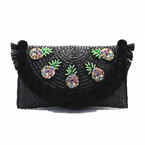 Beach Bag Straw Clutch Messenger Bag Envelope Bag Women Lady Day Tassels Pineapple Summer Crossbody Bags