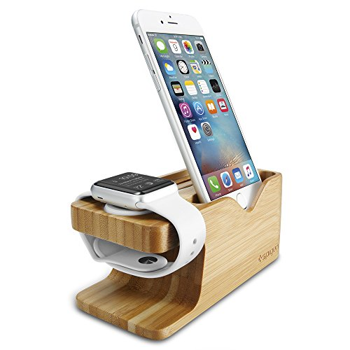 Spigen S370 Designed for Apple Watch Stand and Cell Phone Stand for Any Apple Watch Series and Phone