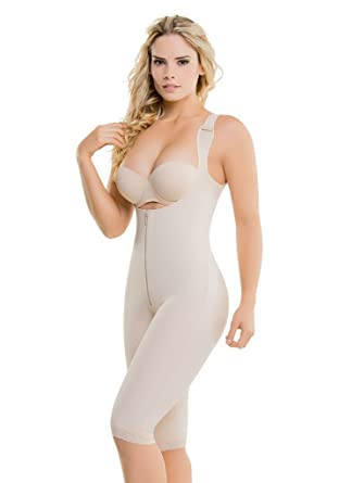 02dd6a415 Just Us Store CYSM Ultra Compression Back Support Latex Capri Size  BodyShaper at Amazon Women s Clothing store
