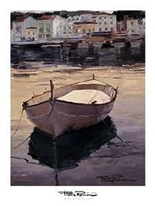 Poch Romeu – Barca al Contraluz Artistica di Stampa (89,99 x 120,02 cm)
