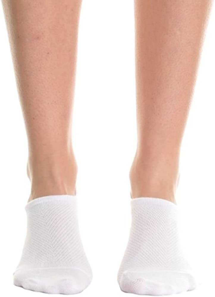 Cotton No-Show Socks With Heel Silicon Grip 12 Pairs