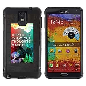 LASTONE PHONE CASE / Suave Silicona Caso Carcasa de Caucho Funda para Samsung Note 3 / Life Make It Poster Rainbow Inspiring