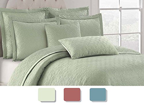 Willow Grove Corolla quilt set, King, Bog (Willow King Comforter)