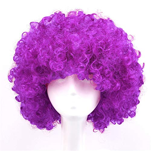 Wig Kinky Curly Hair Heat Resistant Synthetic Wigs Halloween Nautral Cosplay,1B/27HL,14inches -