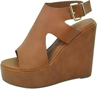 Sunnywill D'été Femmes Plate-Forme Chaussures Talons Compensés Sandales Mode Solide Concise Femelle Élégant Potes Confortable Sandales